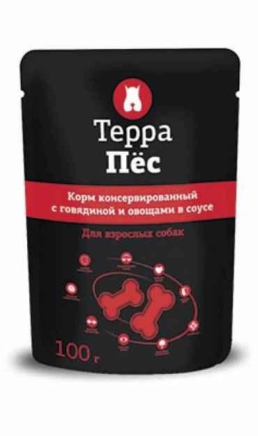 ТерраПес пауч для собак с говядиной и овощами